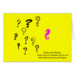 The Existential Seahorse_Years of Therapy Greeting Card