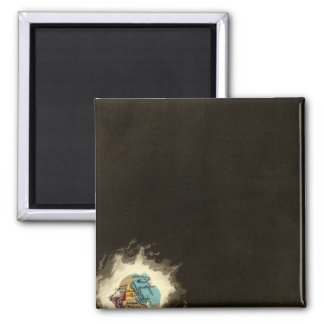 The Exodus of The Israelites 1491 BC 2 Inch Square Magnet