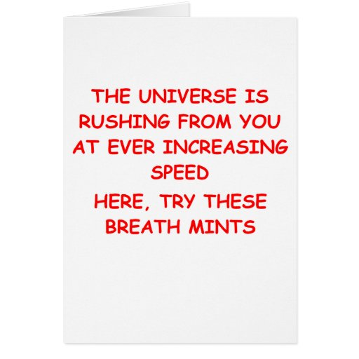 the expanding universe greeting card