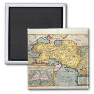 The Expedition of Alexander the Great 2 Inch Square Magnet