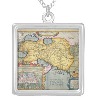 The Expedition of Alexander the Great Square Pendant Necklace
