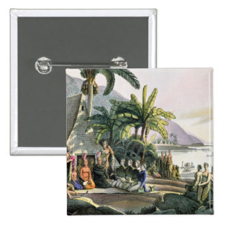 The Expedition Party and King Kamehameha I Pinback Button