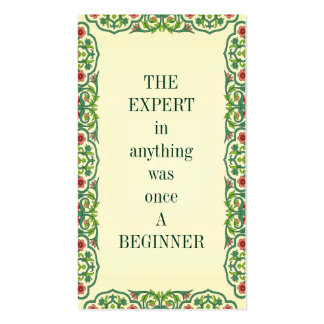 THE EXPERT in anything was once A BEGINNER Double-Sided Standard Business Cards (Pack Of 100)
