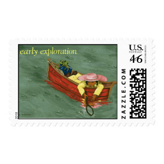 The explorer postage stamps
