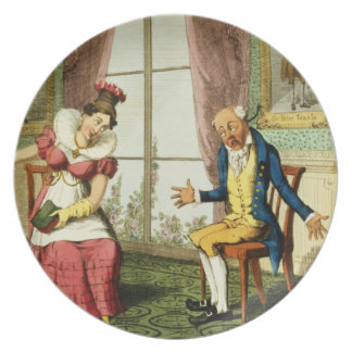 The Expostulation, pub. by G. Humphrey, 1821 (colo Dinner Plates