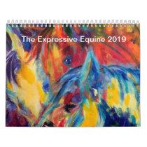 The Expressive Equine 2019 original art calendar