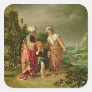 The Expulsion of Hagar, 1612 Square Sticker