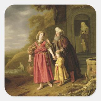 The Expulsion of Hagar and Ishmael, c.1644 Square Sticker