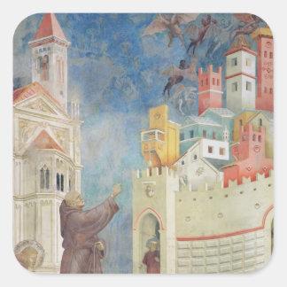 The Expulsion of the Devils from Arezzo, 1297-99 Square Sticker