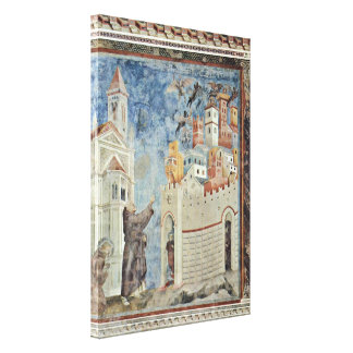 The Expulsion of the devils from Arezzo Stretched Canvas Prints