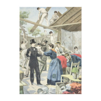 The Expulsion of the Poor from the Slums Canvas Print