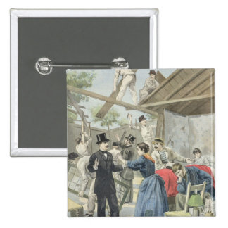 The Expulsion of the Poor from the Slums Pinback Button