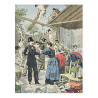 The Expulsion of the Poor from the Slums Postcard