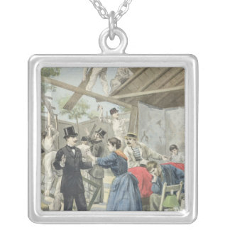The Expulsion of the Poor from the Slums Silver Plated Necklace
