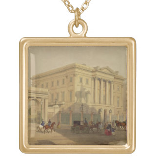 The Exterior of Apsley House, 1853, by J. Dillon ( Gold Plated Necklace