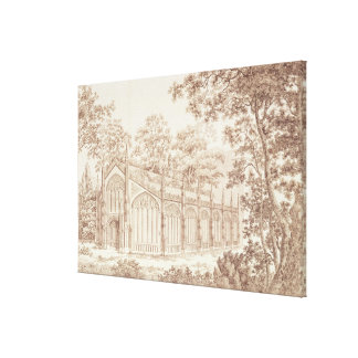 The Exterior of Prince of Wales's Conservatory Stretched Canvas Print