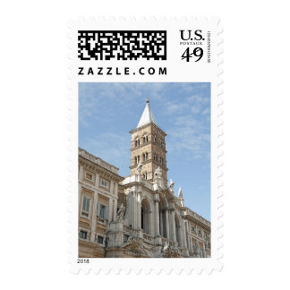 The exterior of Saint Maria Maggiore church in 2 Stamps