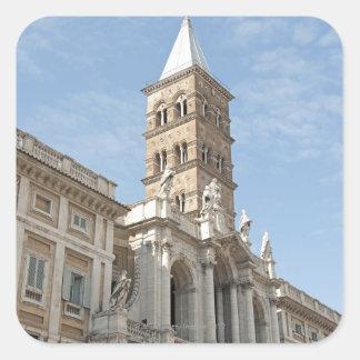 The exterior of Saint Maria Maggiore church in 2 Stickers