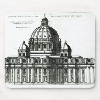 The Exterior of St. Peter's Basilica in Rome Mouse Pad