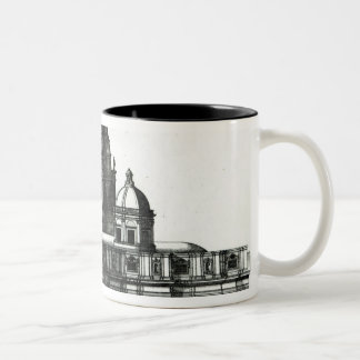 The Exterior of St. Peter's Basilica in Rome Two-Tone Coffee Mug