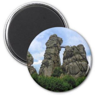 The Externsteine, Teutoburg Forest 2 Inch Round Magnet