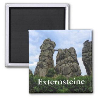 The Externsteine, Teutoburg Forest 2 Inch Square Magnet