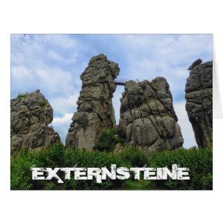 The Externsteine, Teutoburg Forest Card