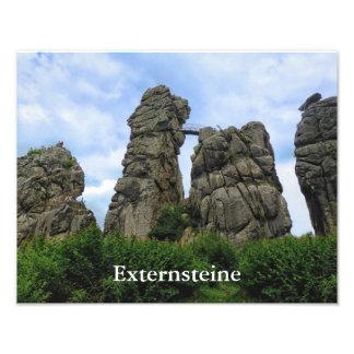 The Externsteine, Typo, Teutoburg Forest Photo Print
