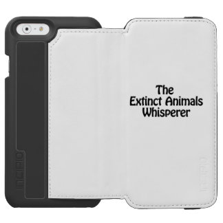 the extinct animals whisperer iPhone 6/6s wallet case