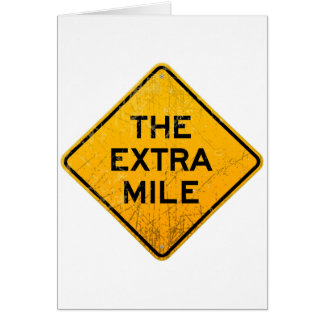 The Extra Mile Card