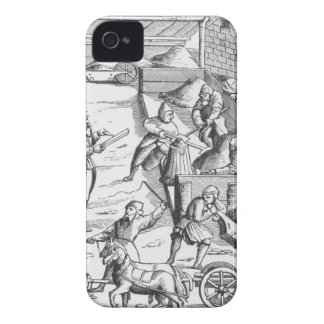 The extraction of metals, after a woodcut in 'Cosm iPhone 4 Cover