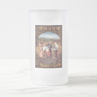 The Extraction of the Stone of Madness 16 Oz Frosted Glass Beer Mug