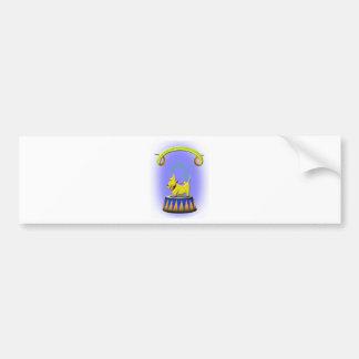 the extraordinary human footed scottie dog bumper sticker