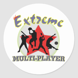 The Extreme Multiplayer Classic Round Sticker