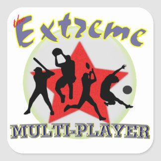 The Extreme Multiplayer Square Sticker