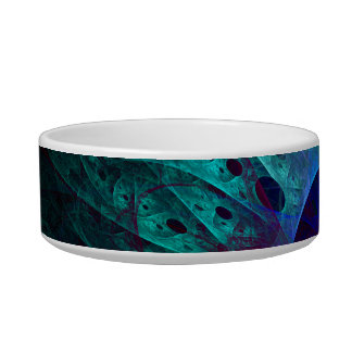 The Eye Abstract Art Cat Bowl
