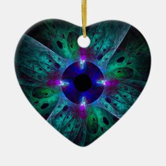 The Eye Abstract Art Heart Ornament