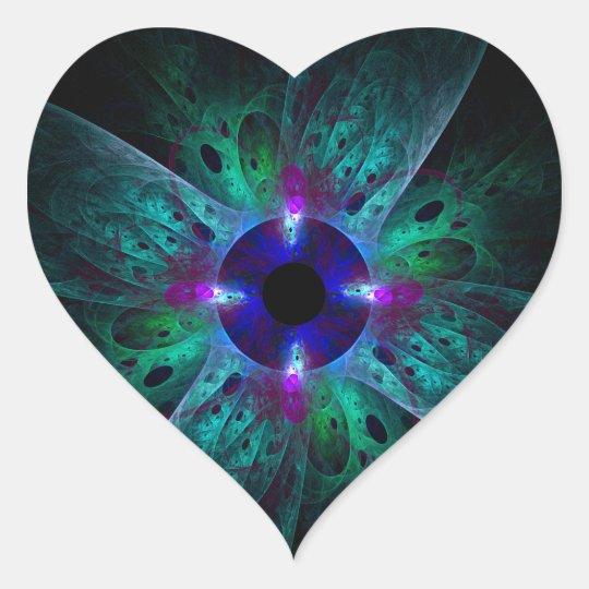 The Eye Abstract Art Heart Sticker