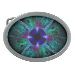 The Eye Abstract Art Oval Belt Buckles