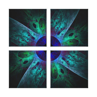 The Eye Abstract Art Quad Canvas Print