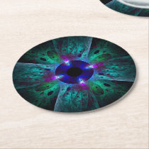 The Eye Abstract Art Round Paper Coaster