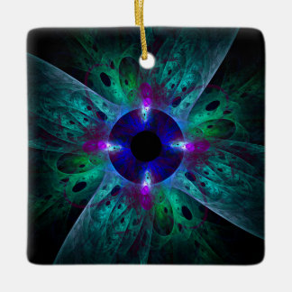 The Eye Abstract Art Square Ornament