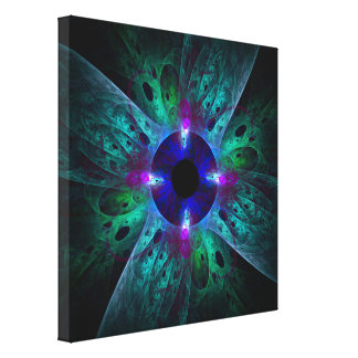 The Eye Abstract Art Wrapped Canvas Print