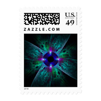The Eye Abstract Postage Stamp