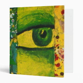 "The Eye - Gold & Emerald Awareness 1"" Binder"
