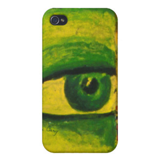 The Eye - Gold & Emerald Awareness 4/4S iPhone 4/4S Cases