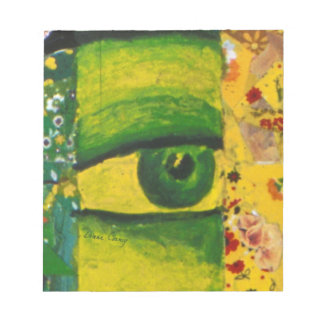 "The Eye - Gold Emerald Awareness 5.5"" x 6"" Notepad"