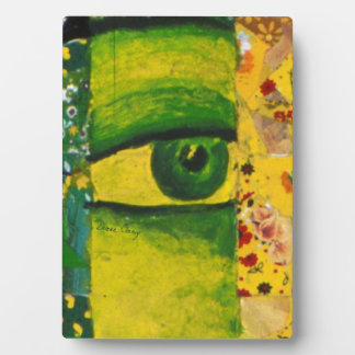 The Eye - Gold & Emerald Awareness 5x7 with Easel Plaque