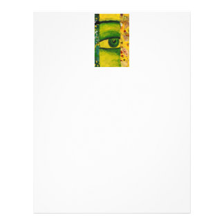 "The Eye - Gold & Emerald Awareness 8.5"" x 11"" Mid Letterhead"