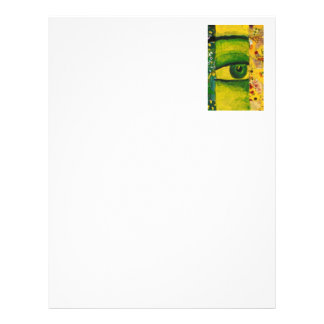 "The Eye - Gold Emerald Awareness 8.5"" x 11"" Right Letterhead"